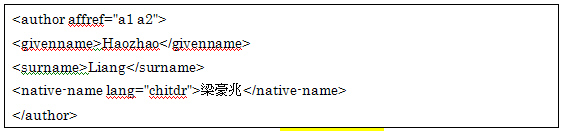 Fig. 12. Use of <native-name>.
