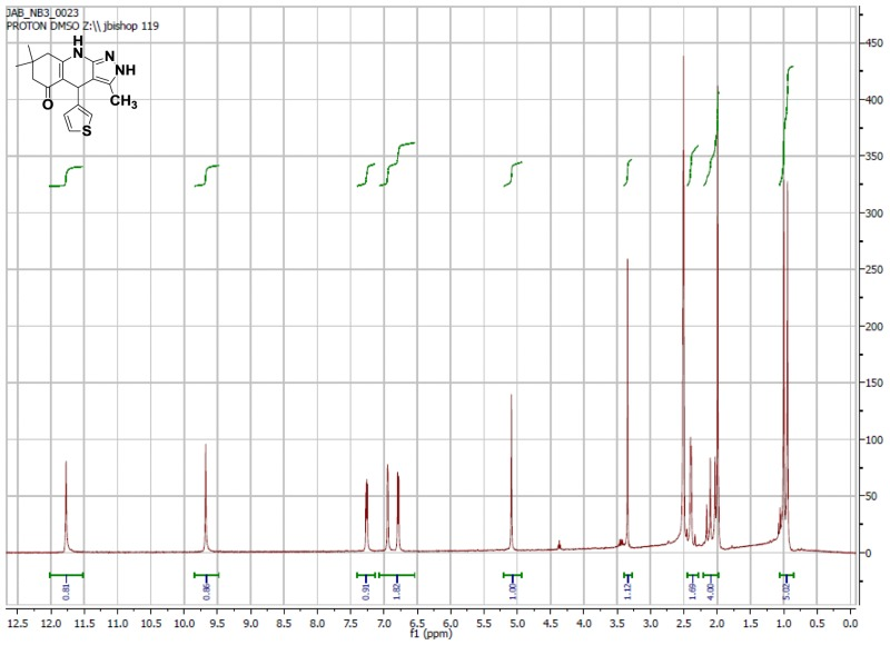 1H NMR Spectrum (300 MHz, CDCl3) of CID 6012776.