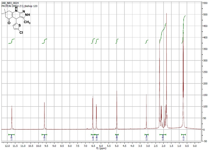 1H NMR Spectrum (300 MHz, CDCl3) of CID 56846658.