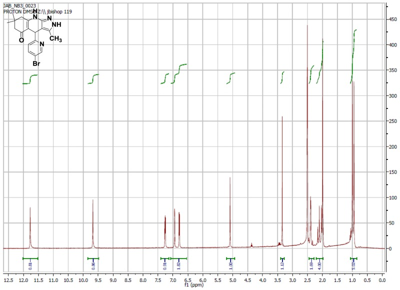 1H NMR Spectrum (300 MHz, CDCl3) of CID 56846664.