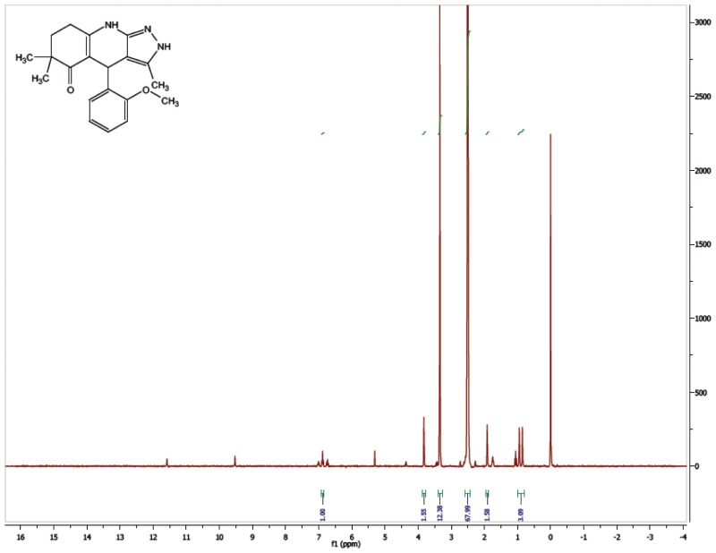 1H NMR Spectrum (300 MHz, CDCl3) of CID 56589417.
