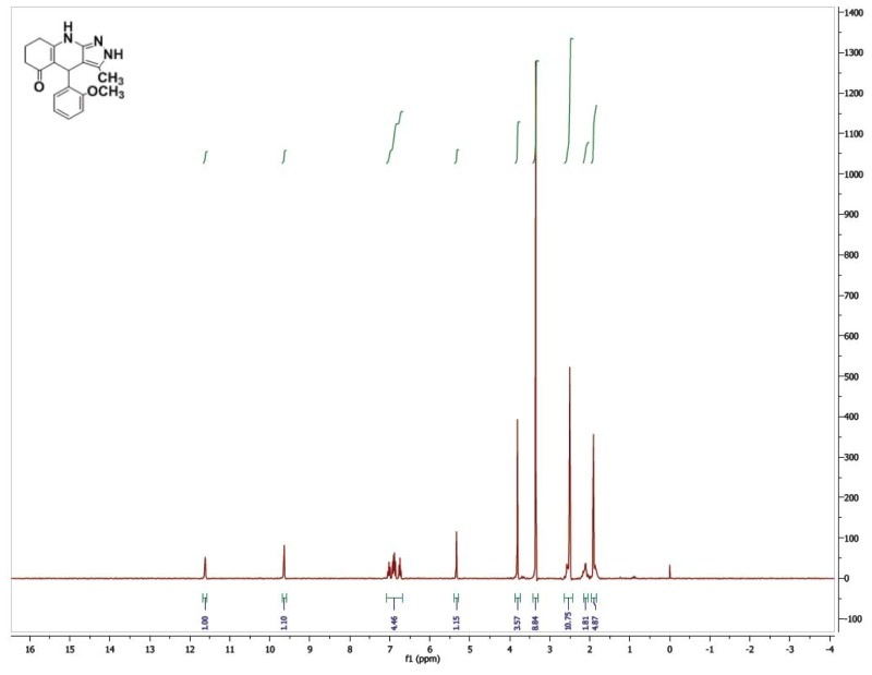 1H NMR Spectrum (300 MHz, CDCl3) of CID 56589434.