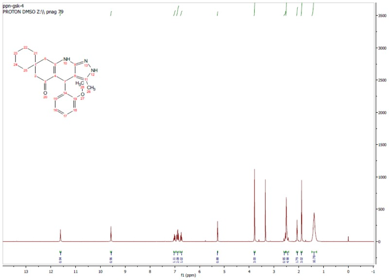 1H NMR Spectrum (300 MHz, CDCl3) of CID 56589428.