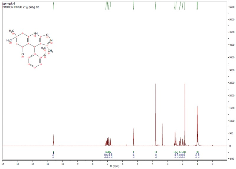 1H NMR Spectrum (300 MHz, CDCl3) of CID 17601325.
