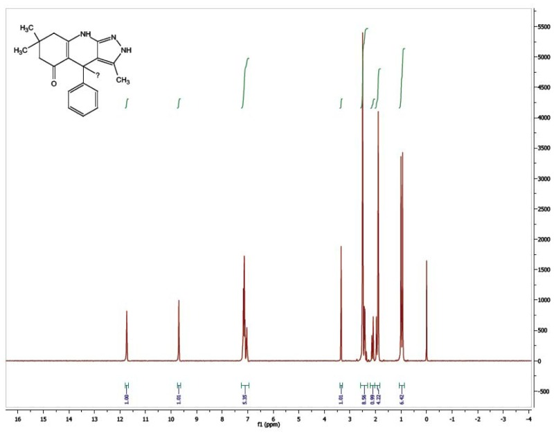 1H NMR Spectrum (300 MHz, CDCl3) of CID 56589399.