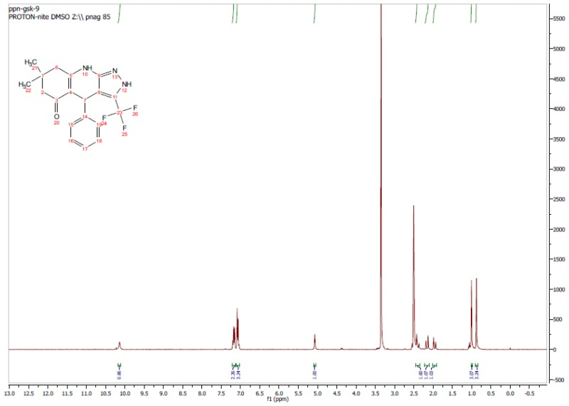 1H NMR Spectrum (300 MHz, CDCl3) of CID 56846668.