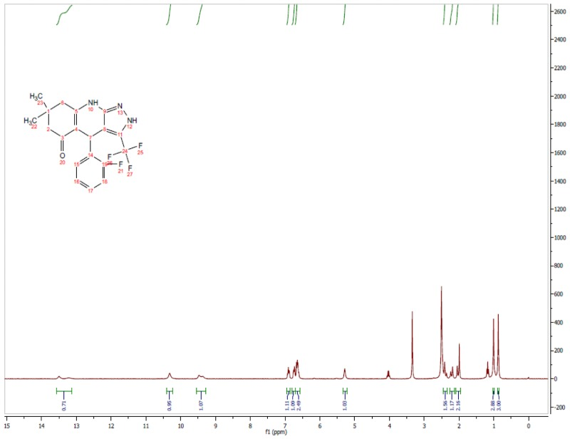 1H NMR Spectrum (300 MHz, CDCl3) of CID 56846660.