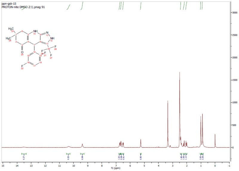 1H NMR Spectrum (300 MHz, CDCl3) of CID 56846654.