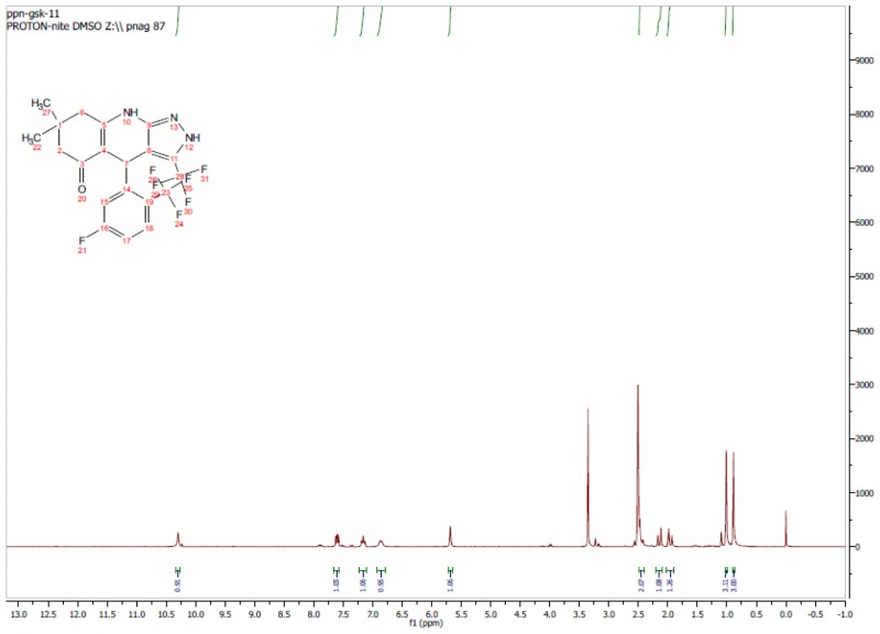 1H NMR Spectrum (300 MHz, CDCl3) of CID 56846657.