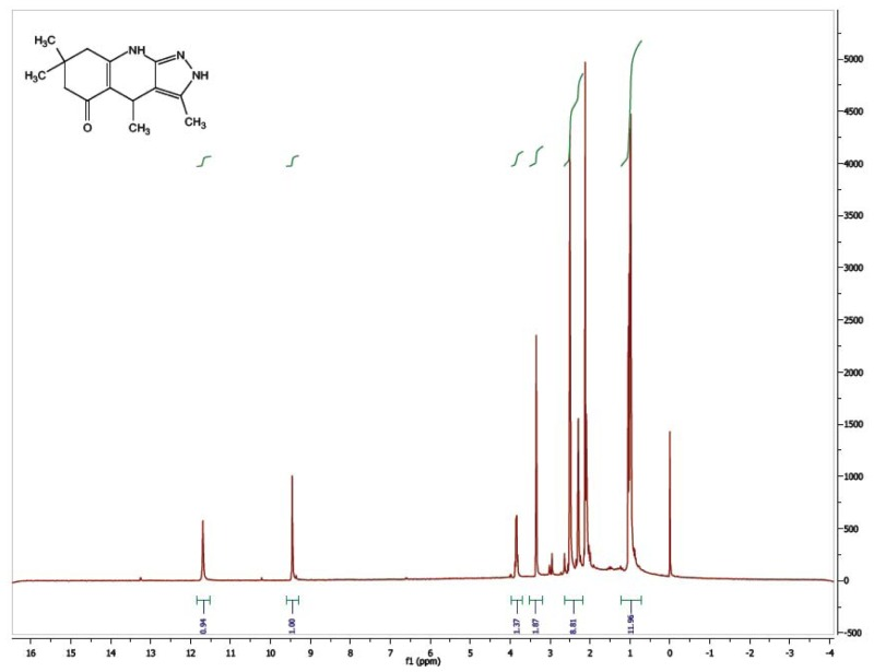 1H NMR Spectrum (300 MHz, CDCl3) of CID 56589407.