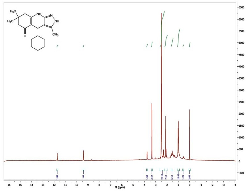 1H NMR Spectrum (300 MHz, CDCl3) of CID 56589404.
