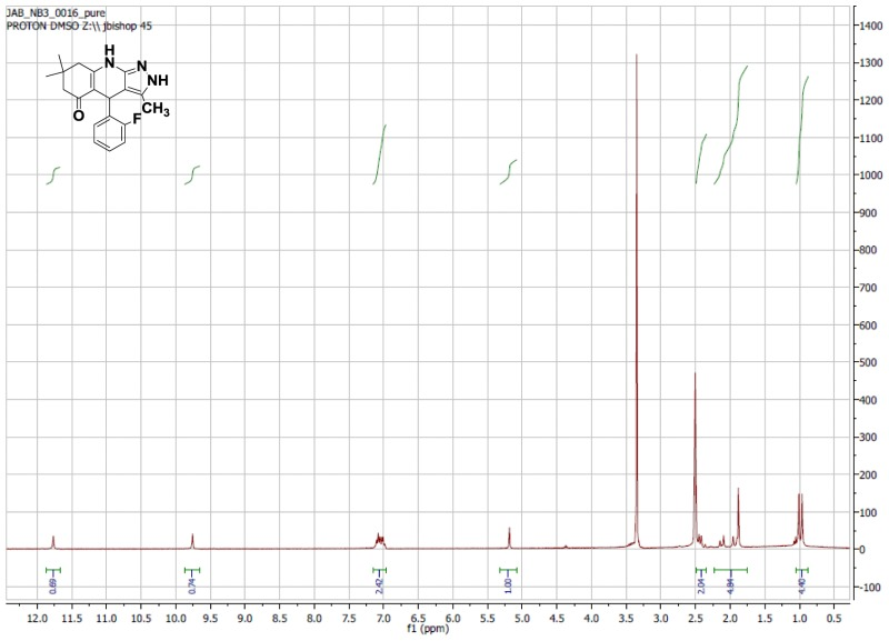 1H NMR Spectrum (300 MHz, CDCl3) of CID 5830978.