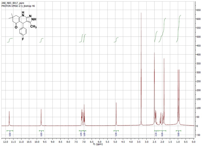 1H NMR Spectrum (300 MHz, CDCl3) of CID 5771498.