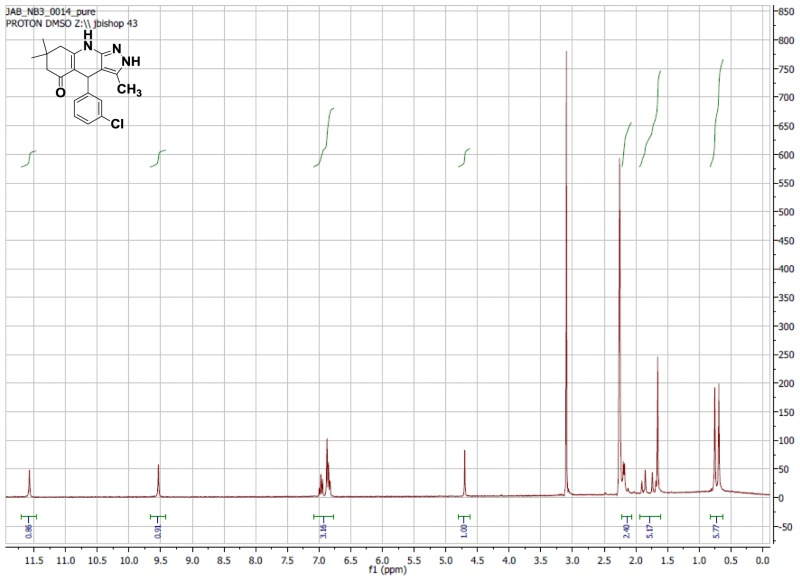 1H NMR Spectrum (300 MHz, CDCl3) of CID 5841835.