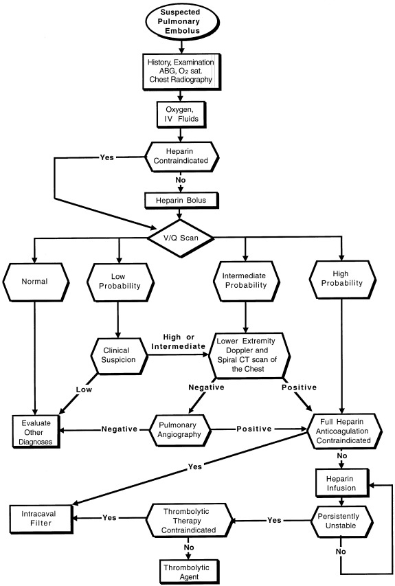 Figure 158.4. Algorithm for the management of pulmonary embolism in the cancer patient.