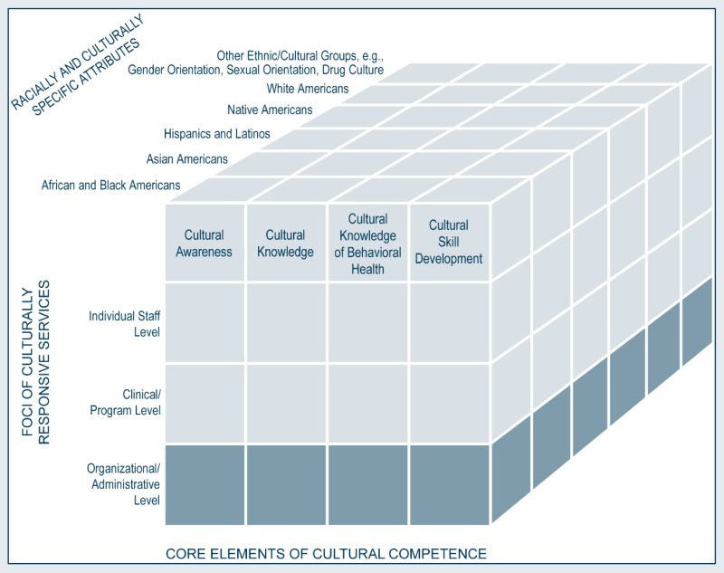 Pursuing organizational cultural competence improving cultural multidimensional model for developing cultural competence organizationaladministrative level malvernweather Image collections