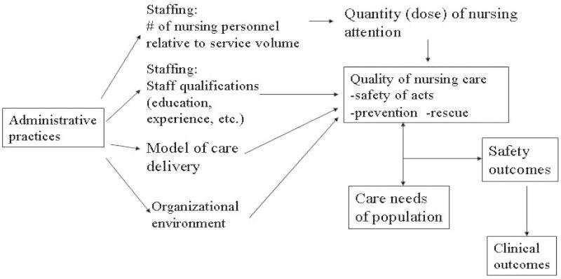 Figure 2, [Nurse Staffing, Quality of Care, and Outcomes]  - Patient