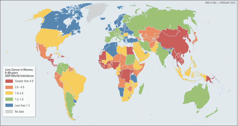 Map 8.1, Age-Standardized Liver Cancer Incidence Rates for ... Cancer Rates Map on current cancer statistics map, abortion rate map, skin cancer map, obesity rate map, cancer incidence world map, us cancer map, death rate map, unemployment rate map, cancer death map, tuberculosis rate map,