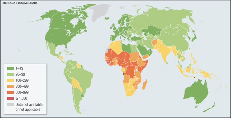 Live Map Of The World.Map 7 1 Maternal Mortality Ratio Per 100 000 Live Births 2015