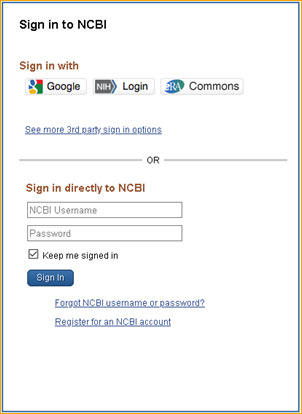 My NCBI Help - My NCBI Help - NCBI Bookshelf