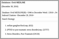 Evidence Brief: Effectiveness of Stellate Ganglion Block for