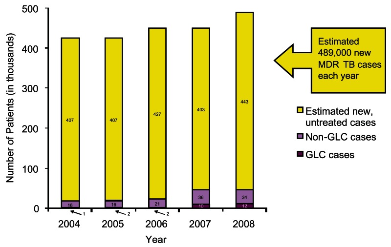 FIGURE 3-1. MDR TB burden and patients in treatment.
