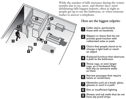 Figure 7-5. Fall Risks to Elderly in the Home.