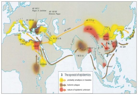 FIGURE 1-1. The spread of epidemics.