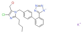 Chemical Structure for Losartan