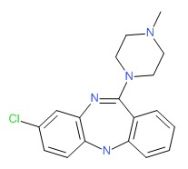 Clozapine Chemical Structure