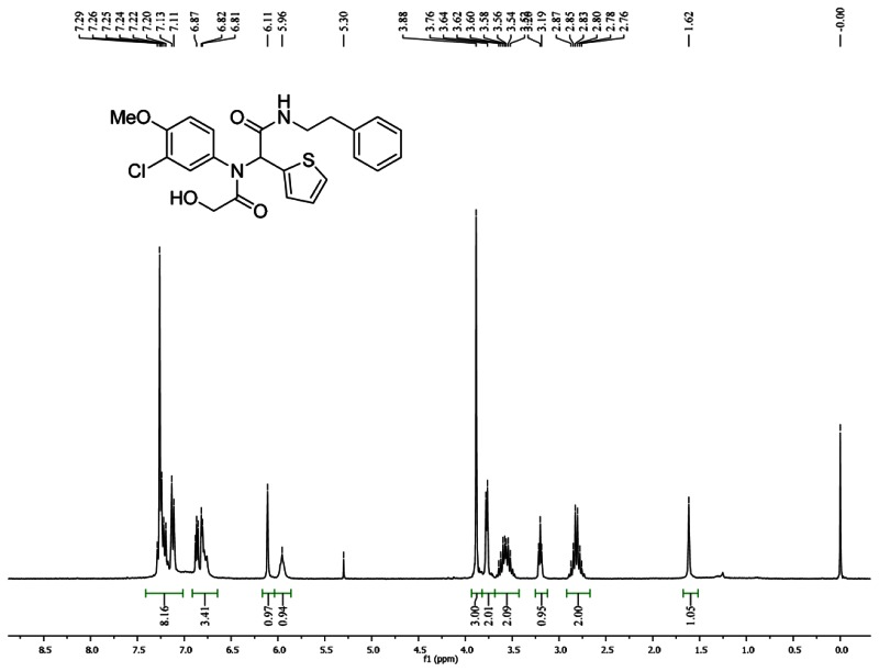 1HNMR Spectra (300 MHz, CDCl3) of Analog CID 46897907.