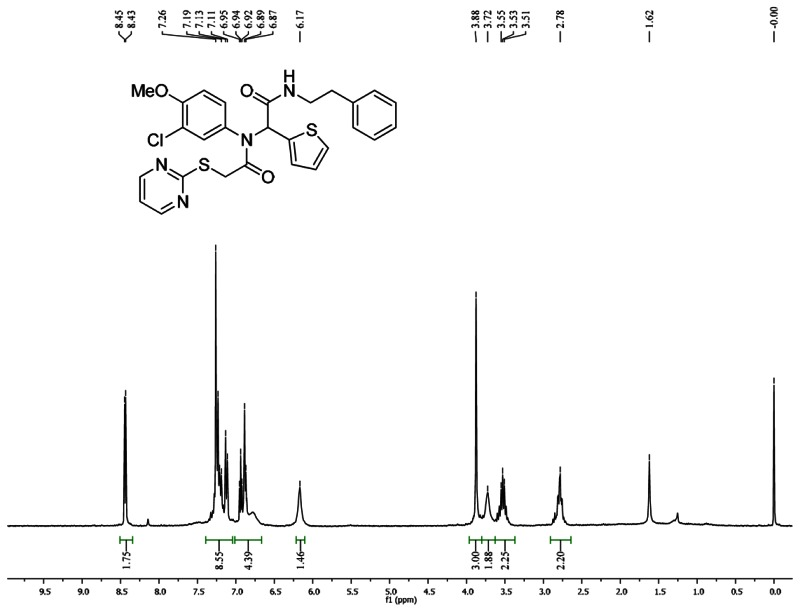 1HNMR Spectra (300 MHz, CDCl3) of Analog CID 49766533.