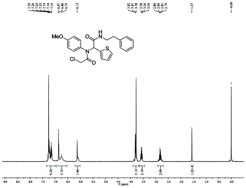 1HNMR Spectra (300 MHz, CDCl3) of Analog CID 3689416.