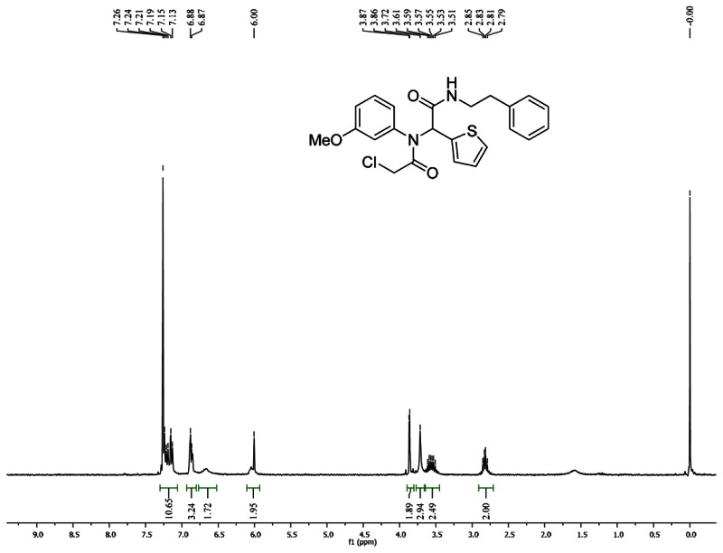1HNMR Spectra (300 MHz, CDCl3) of Analog CID 3689415.