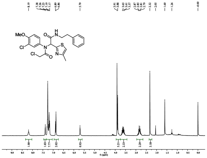 1HNMR Spectra (300 MHz, CDCl3) of Analog CID 49766537.
