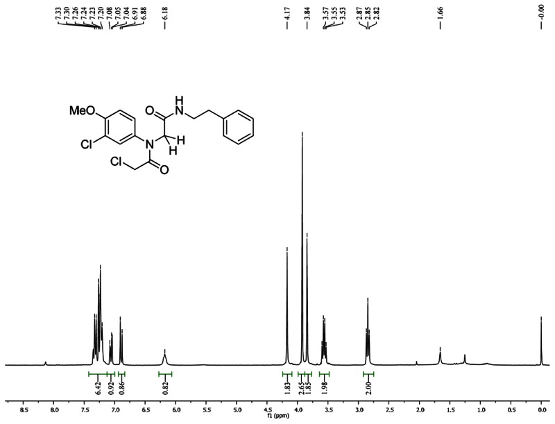 1HNMR Spectra (300 MHz, CDCl3) of Analog CID 49766514.
