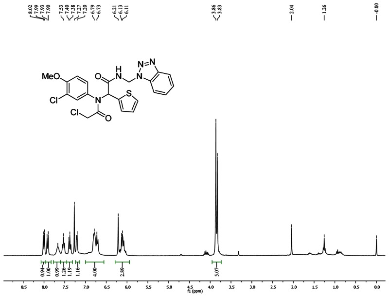 1HNMR Spectra (300 MHz, CDCl3) of Analog CID 49766508.