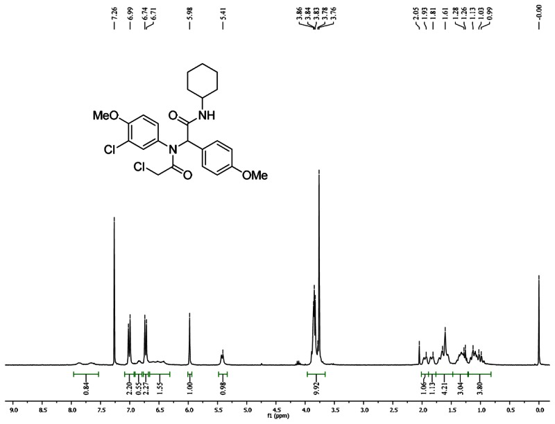 1HNMR Spectra (300 MHz, CDCl3) of Analog CID 46897910.