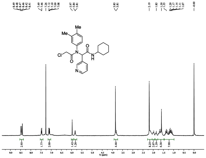 1HNMR Spectra (300 MHz, CDCl3) of Analog CID 4381125.