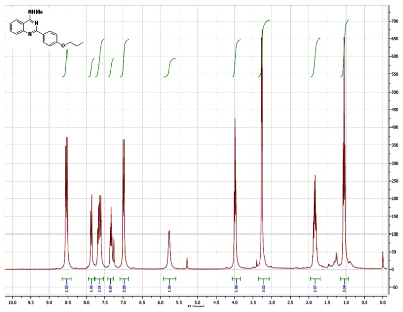 1H NMR (300 MHz, CDCl3) Spectra of Analog CID-49843280.