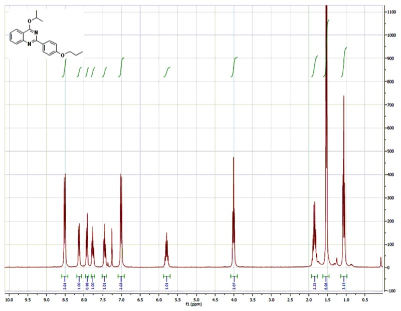 1H NMR (300 MHz, CDCl3) Spectra of Analog CID-46925825.