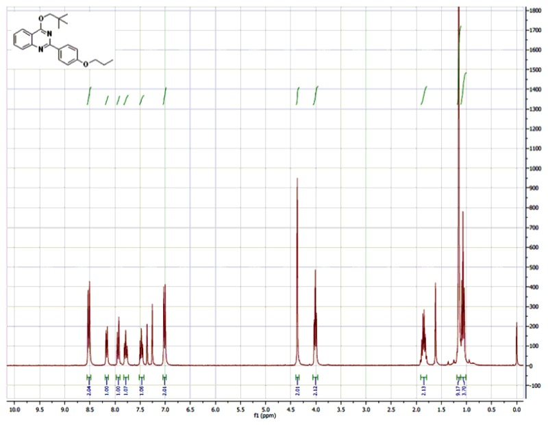 1H NMR (300 MHz, CDCl3) Spectra of Analog CID-46925838.