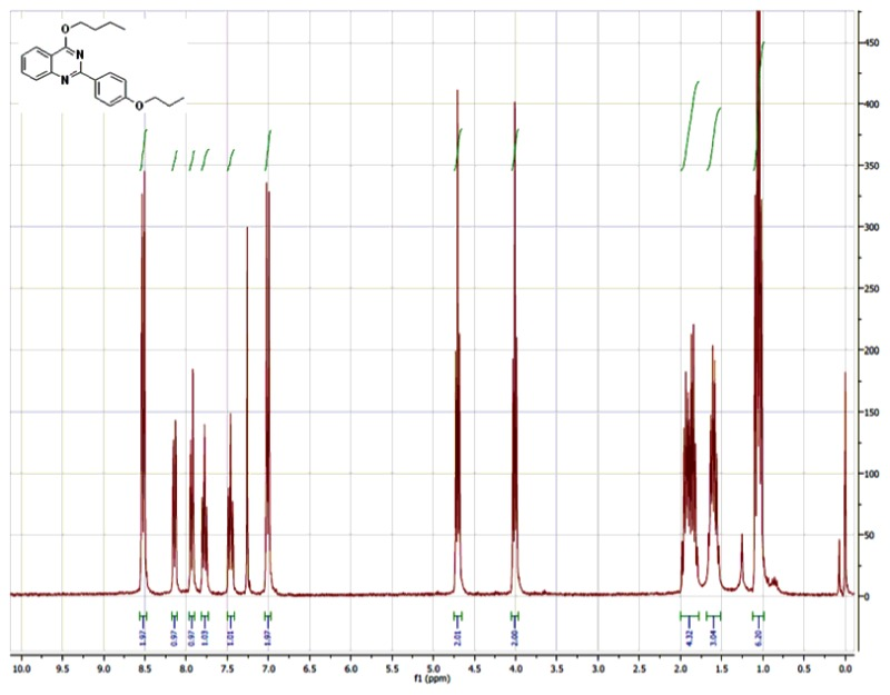 1H NMR (300 MHz, CDCl3) Spectra of Analog CID-46925850.