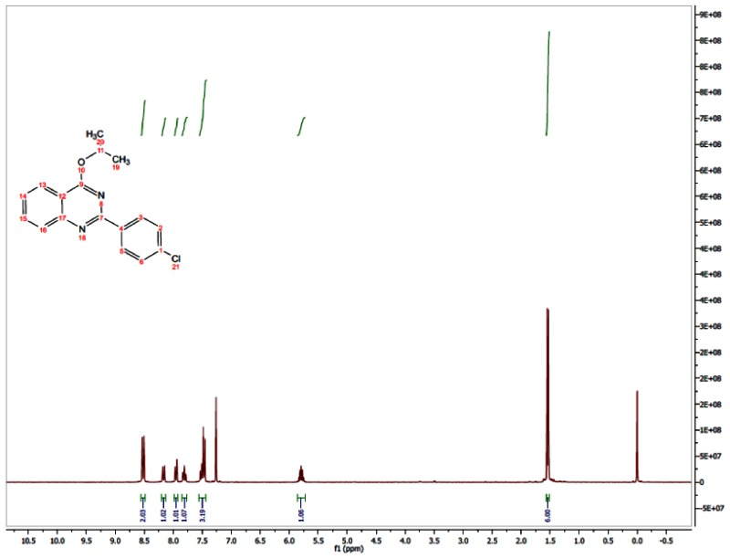 1H NMR (300 MHz, CDCl3) Spectra of Analog CID-914635.