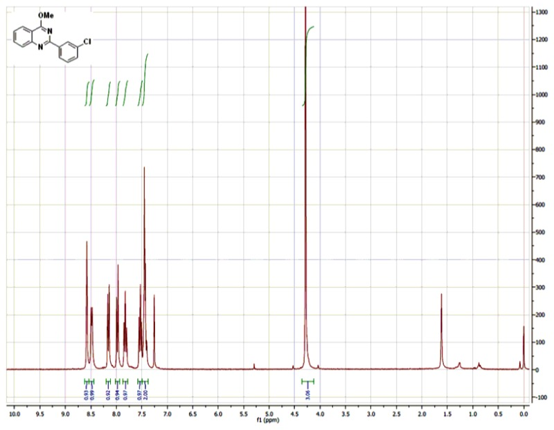 1H NMR (300 MHz, CDCl3) Spectra of Analog CID-46925832.