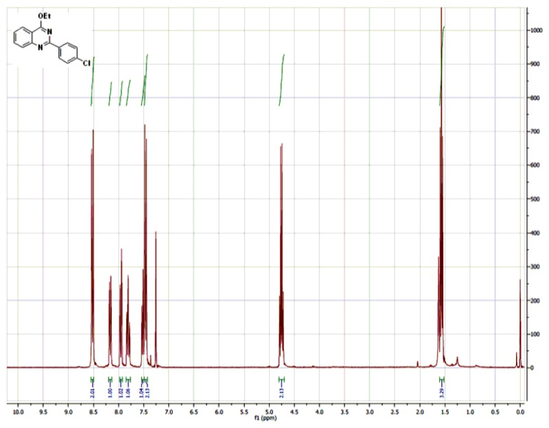 1H NMR (300 MHz, CDCl3) Spectra of Analog CID-710973.