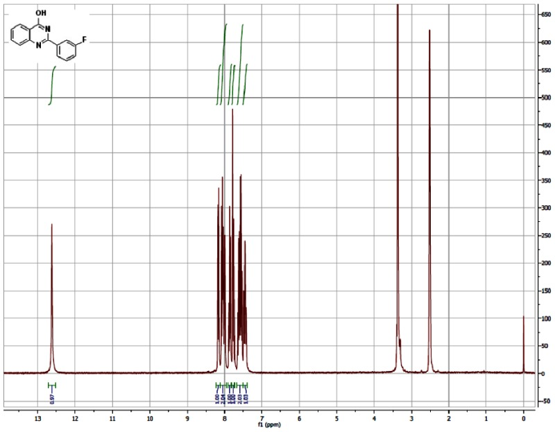 1H NMR (300 MHz, CDCl3) Spectra of Analog CID-391313.