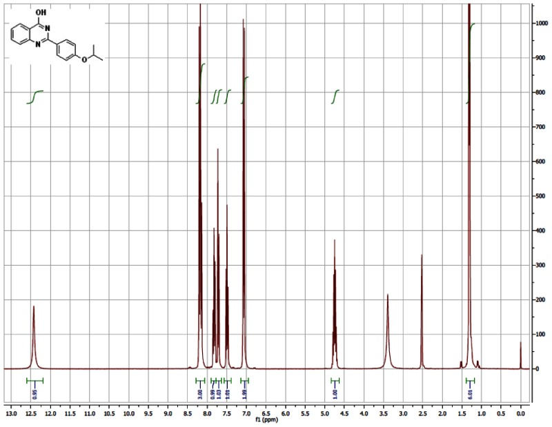 1H NMR (300 MHz, CDCl3) Spectra of Analog CID-46925826.