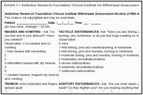 Exhibit 3-1 Addiction Research Foundation Clinical Institute for Withdrawal Assessment - Alcohol (CIWA-Ar).