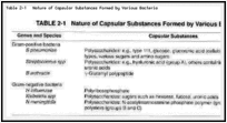 Table 2-1. Nature of Capsular Substances Formed by Various Bacteria.